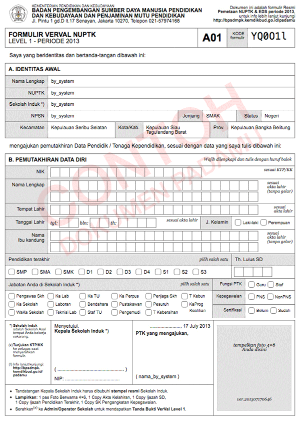 Padamu Negeri Indonesiaku Contoh Formulir A01 Penarikan Uang Bahasa Inggris