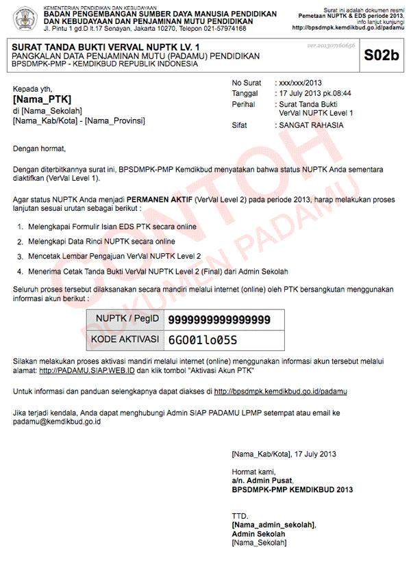 Padamu negeri indonesiaku contoh surat s02b tanda bukti verval lv1 untuk ptk thecheapjerseys Gallery